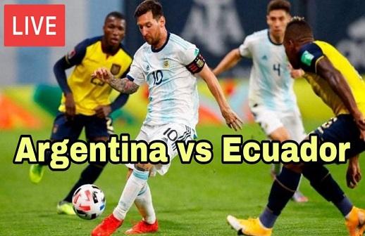 Argentina VS Ecuador Copa America Quarter Final 2021 Live